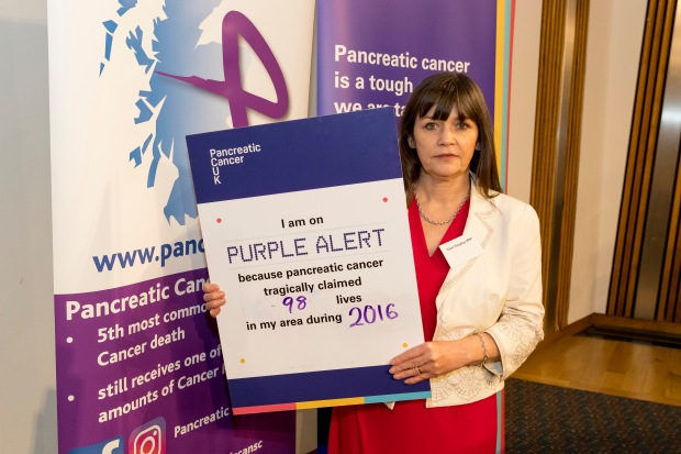 Pancreatic Cancer Awareness Month reception in Scotland