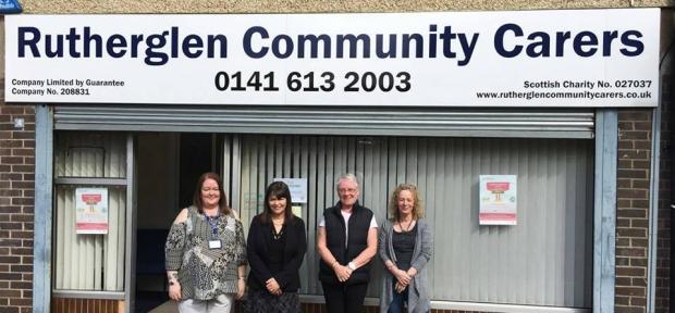 Clare Haughey MSP at Rutherglen Community Carers