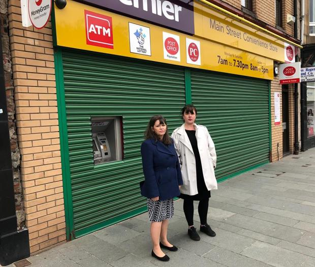 Clare Haughey MSP & Cllr Janine Calikes - Post Office